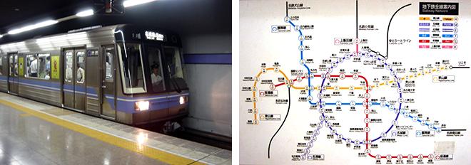 路線図や乗車位置看板の色