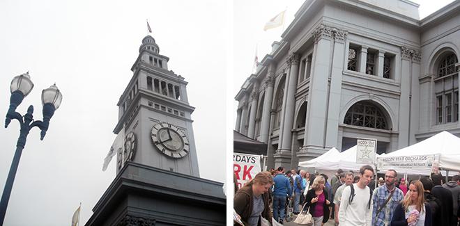Ferry BuildingにあるFarmers Market(朝市)