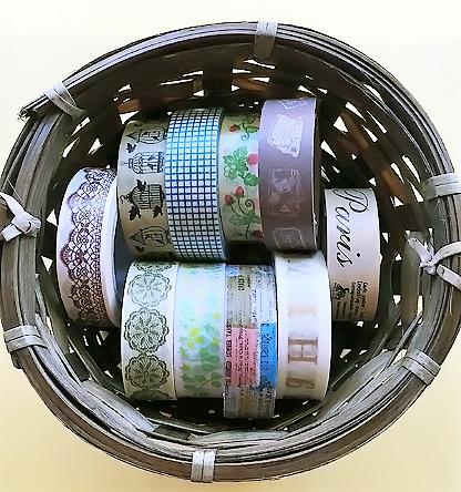 マスキングテープのベースカラー別収納法