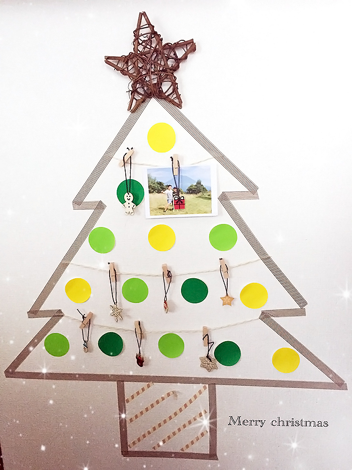 マスキングテープで時短クリスマスツリー