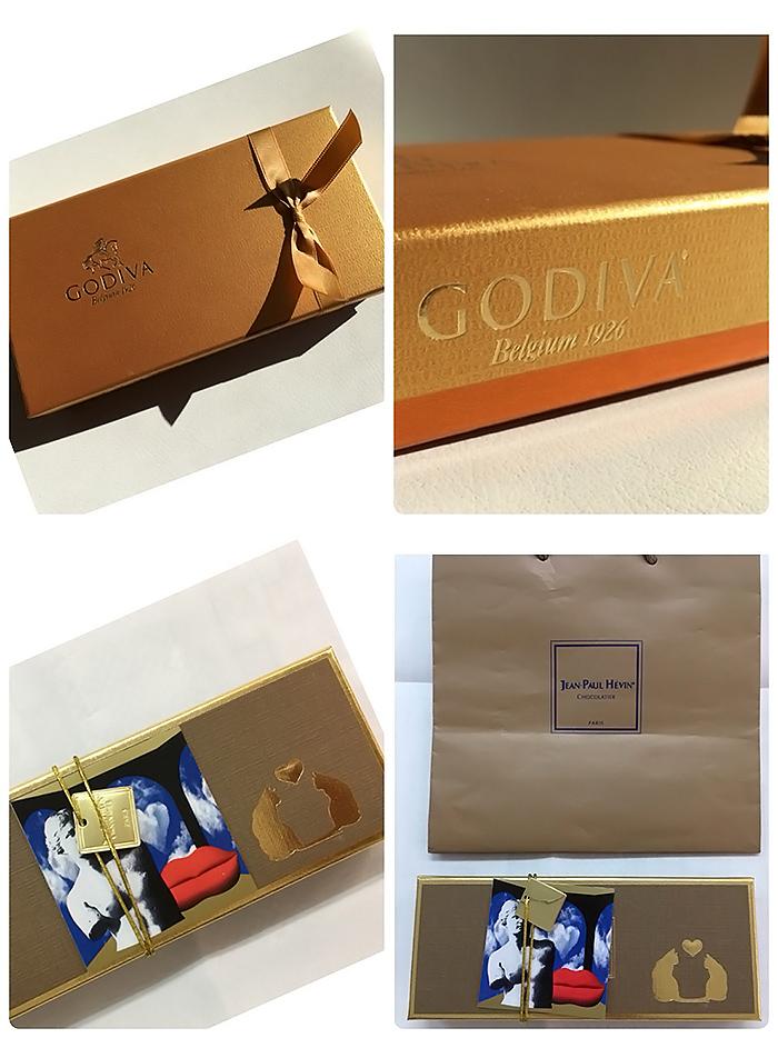 バレンタインのチョコレートパッケージ
